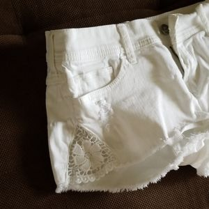 Hollister low rise white shorts